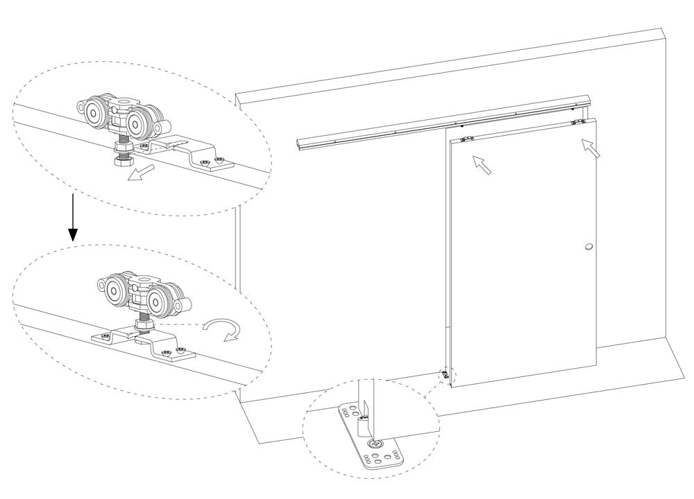 rails pour portes coulissantes eclisse. Black Bedroom Furniture Sets. Home Design Ideas